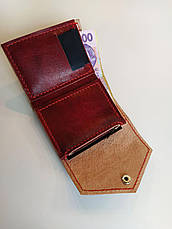 """Маленький кожаный кошелек ручной работы   """"Мисс Конгениальность"""", фото 2"""