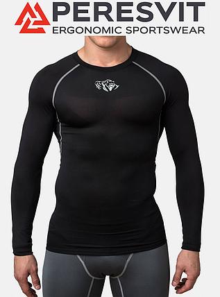 Компрессионная футболка Peresvit Air Motion Black Long Sleeve, фото 2