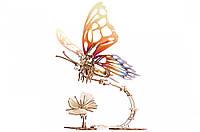 Механічні 3-D пазли UGEARS дерев'яний конструктор Метелик / Механические 3d пазлы Югирс, модель Бабочка