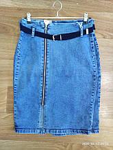 Юбка джинсовая женская стильная размер 36-42 купить оптом со склада 7км Одесса
