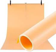 70x130см оранжевый ПВХ Фон для съёмки Visico PVC-7013 Orange, фото 2