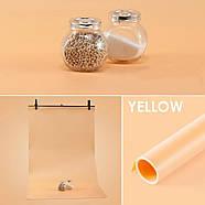 70x130см оранжевый ПВХ Фон для съёмки Visico PVC-7013 Orange, фото 3