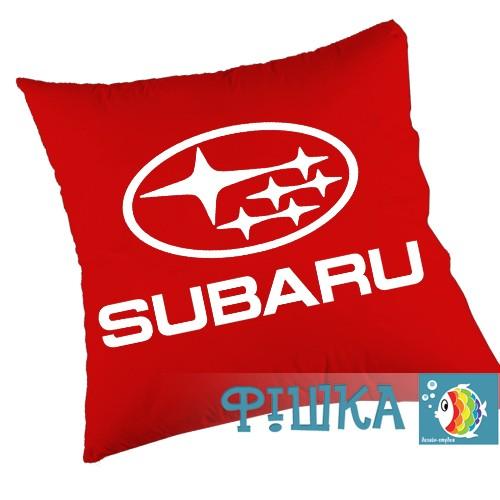 Подушка с логотипом SUBARU, фото 1