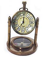Часы настольные с компасом (10,5х7,5х7,5 см) A