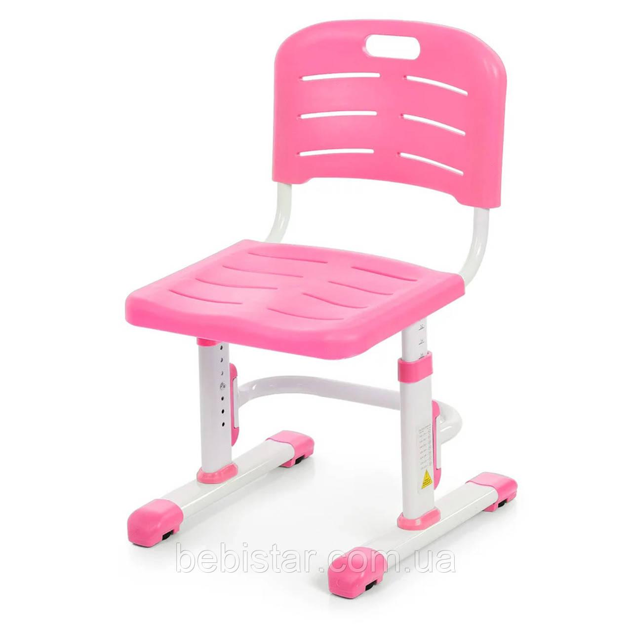 """Детская парта растишка """"Bambi"""" розового цвета трансформер девочке от 3 лет столешница 70 х 38 см - фото 5"""
