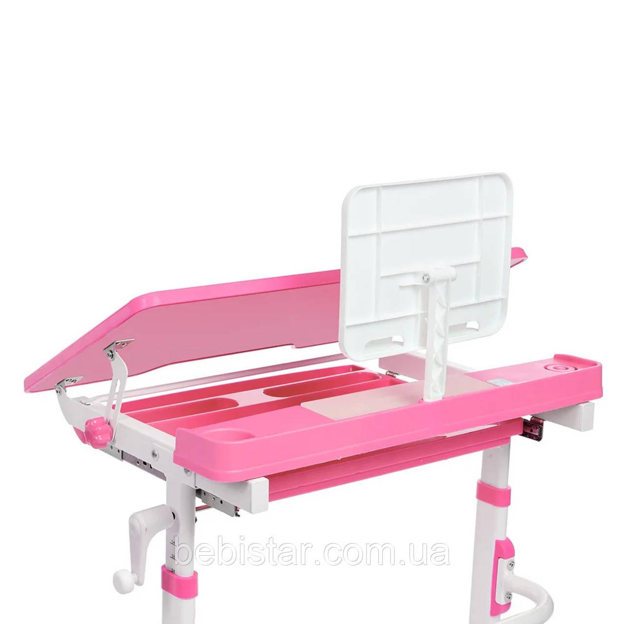 """Детская парта растишка """"Bambi"""" розового цвета трансформер девочке от 3 лет столешница 70 х 38 см - фото 8"""