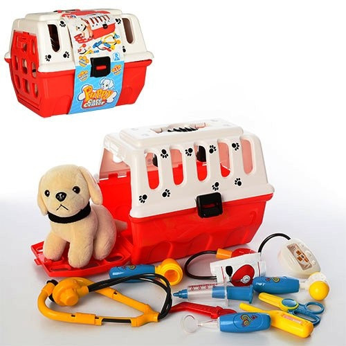 Набор Доктор Айболит игра 231 9 предметов, собачка в чемодане