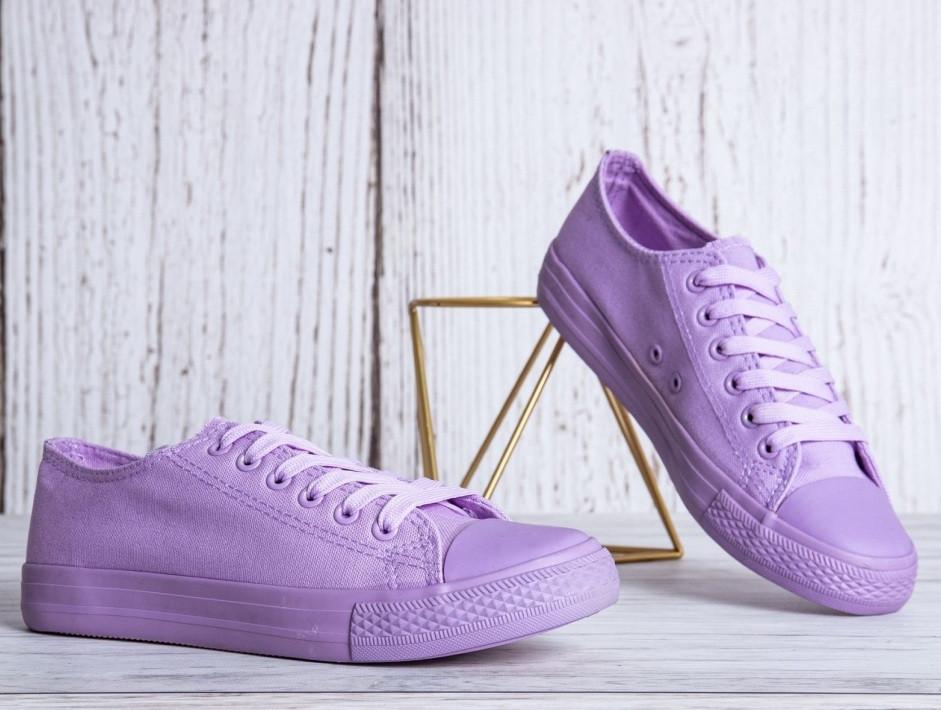 Фиолетовые женские кеды 36-41