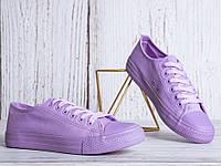 Фиолетовые женские кеды 36-41, фото 1