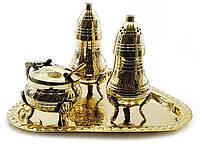 Солонка ,перечница ,горчичница бронза (н-р 3 шт)(17,5х12,5х9 см)