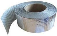 Клейкая лента фольгированная алюминиевая, армированная стеклонитью, скотч алюминиевый армированный 75ммх50м