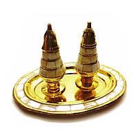 Солонка ,перечница  бронза c перламутром (19х14х11,5 см)