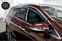 Дефлекторы окон (ветровики) с хром накладкой Mazda CX-7 2006R -> 5D хром 4шт (HIC)