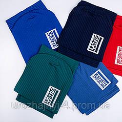 Трикотажный комплект шапка и хомут на подкладке х/б р52-54 уп 5шт