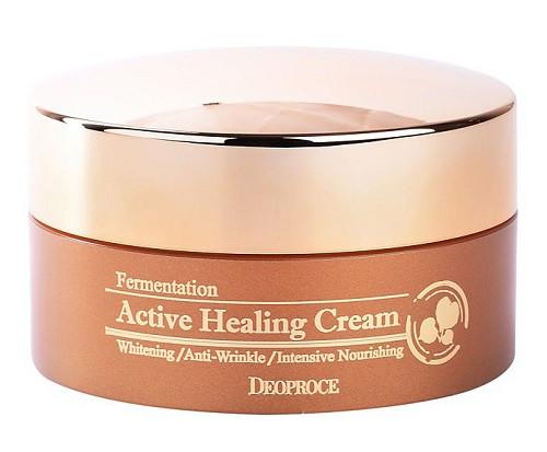 Питательный крем с активными пузыриками кислорода Deoproce Fermentation Active Healing Cream