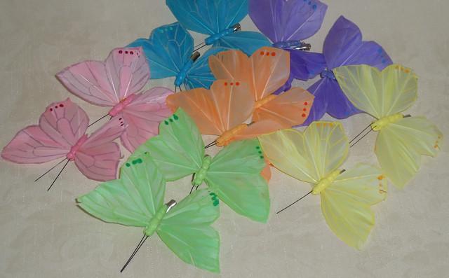 Бабочки, птицы искусственные