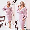Нежное женское платье из велюра (3 цвета) PY/-1015 - Фрезовый