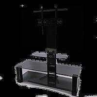 Тумба ТВ из стекла с кронштейном Статус New Decor Black (1250х450х1250)
