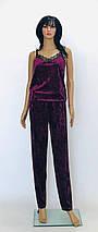 Топ и штаны из мраморного велюра, фото 2