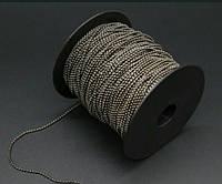 Цепочка шариковая 1,5 мм (темное серебро)