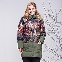 """Женское демисезонное пальто большого размера """"Марлен"""" рр 50-60"""