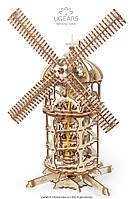 Механічні 3-D пазли UGEARS конструктор Башта-Млин / Механические 3d пазлы Югирс, модель Башня-Мельница