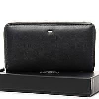 Мужской кожаный клатч кошелек портмоне на молнии dr.Bond натуральная кожа