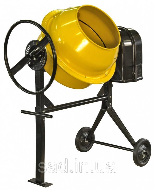 На фото представлена венцовая бетономешалка Кентавр на 140 литров.