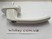 Ручка оконная Antey белая с ключом антидетка