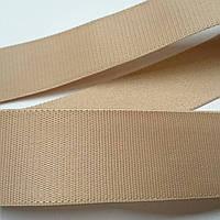 Резинка для одежды и белья 21 мм ширина. Цвет бежевый.