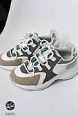 Женские кроссовки с контрастными вставками. Модель 24093. Размеры 36-40