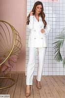 Женский классический брючный костюм в стиле кэжуал арт  128
