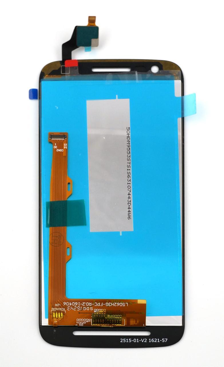Дисплей и сенсор (дисплейный модуль) для Motorola E3 XT1706 черный