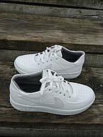 Кеды женские кожаные демисезонные производства Украина Туфли спорт комфорт белые 40 (25см)