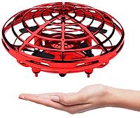 "Квадрокоптер UFO (Y1102), Квадрокоптер мини ""Летающая тарелка"", Ручной дрон с подсветкой"