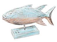 Рыба на подставке бирюзовая,длина 40см,ширина 20см