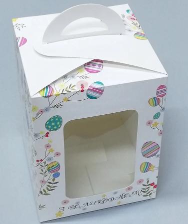 Коробка для пасхи-кексов 140х140х180 мм KPP8