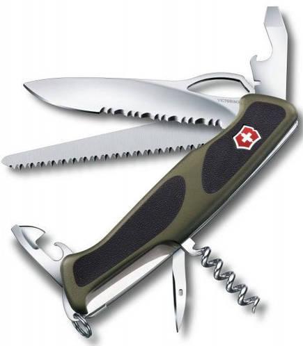 Швейцарский функциональный складной нож Victorinox RangerGrip 179, 09563.MWC4 зеленый