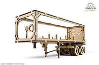 Механічні 3-D пазли UGEARS Причіп до моделі Тягач VM-03 / Механические пазлы Югирс, прицеп модели Тягач VM-03