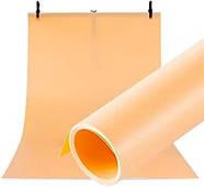 100x200см оранжевый ПВХ Фон для съёмки Visico PVC-1020 Orange, фото 2