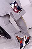 Костюм жіночий батал чорний, сірий, хакі, 48-50, 52-54, 56-58, 60-62, фото 4