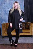 Костюм жіночий батал чорний, сірий, хакі, 48-50, 52-54, 56-58, 60-62, фото 5