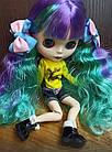 Замшеві черевики для ляльки Блайз (Blythe), Айсі, чорні, фото 2