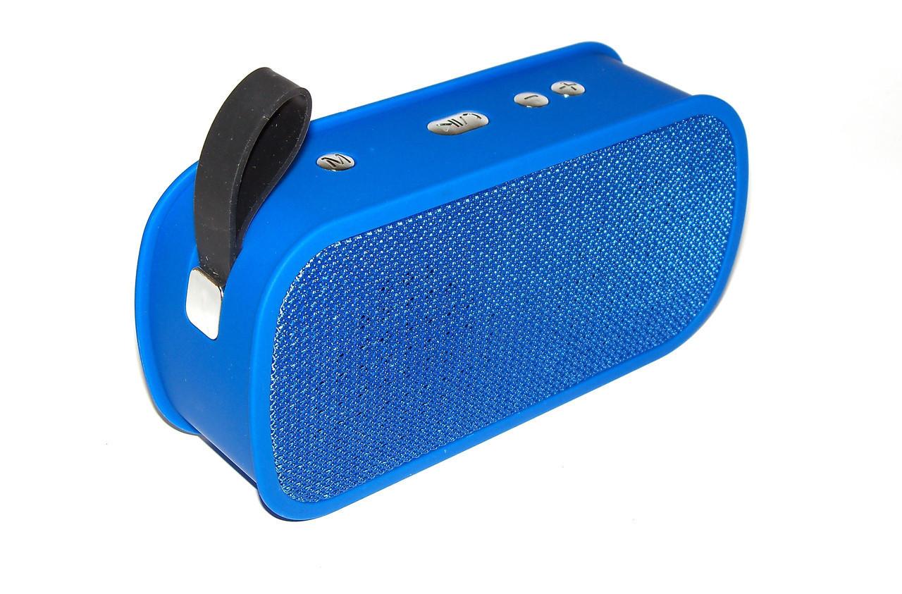 Портативная колонка блютуз колонка MP3 плеер SPS M168 Blue (006347)