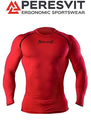 Компрессионная футболка с длинным рукавом Peresvit 3D Performance Rush Compression T-Shirt Red, фото 2
