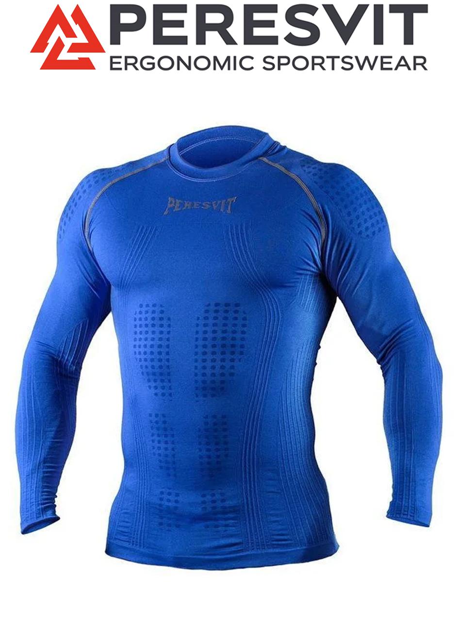 Компрессионная футболка с длинным рукавом Peresvit 3D Performance Rush Compression T-Shirt Royal