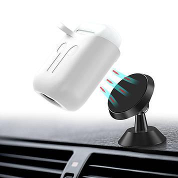 Чехол BeWatch силиконовый магнитное крепление для Apple AirPods Белый (5020102)