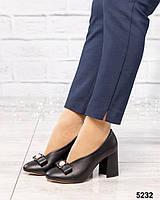 Туфли женские  с бантом черные, фото 1