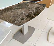 Стіл обідній розкладний Мілан-1 TES Mobili, стільниця з керамічним покриттям brown glatt