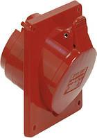 Силовая фланцевая розетка 16 А ампер IP44 3P+N+E пять полюсов 400В